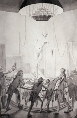 William Hunter teaching at the Royal Academy of Arts, as drawn by Elias Martin around 1770. Copyright Wellcome Library, London