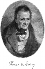 A portrait of Thomas de Quincey in old age. Creative Commons via Wikimedia Commons