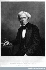 A portrait of Michael Faraday (1791-1867). Wellcome Library, London